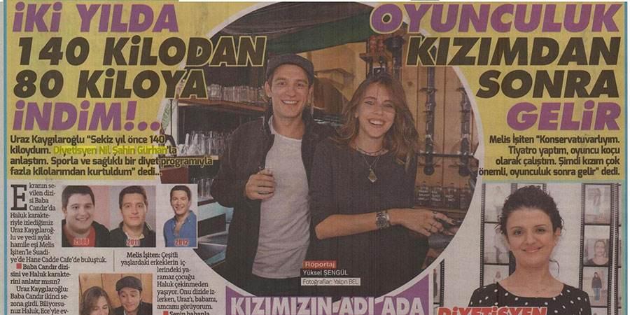 """Uraz Kaygılaroğlu: """"İki yılda 140 kilodan 80 kiloya indim."""""""